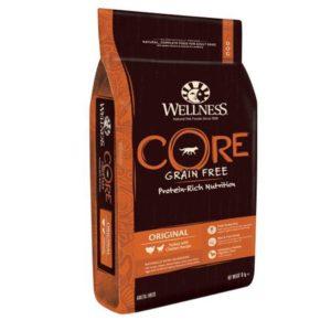 Sac de hrană uscată pentru câini Wellness Core Grain Free