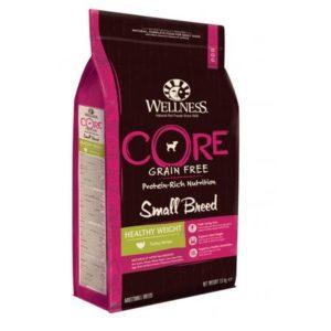 Sac de hrană uscată pentru câini Wellness Core Grain Free Small Breed