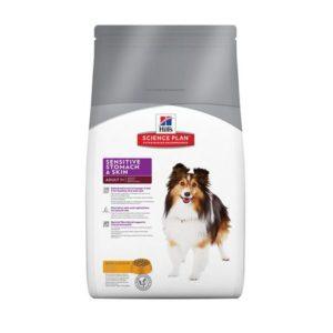 Sac de hrană uscată pentru câini Hill's Science Plan Adult Sensitive Stomach & Skin