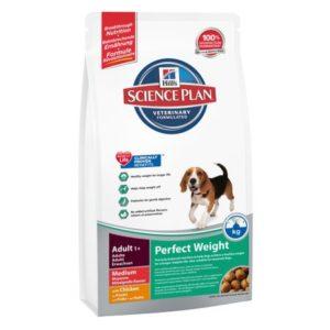 Sac de hrană uscată pentru câini Hill's Science Plan, Adult, Talie medie, Perfect Weight