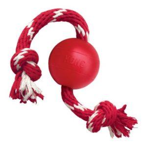 Jucarie pentru câini Kong Classic Ball cu sfoară