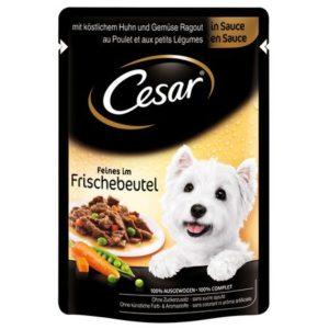 Hrană umedă plic Cesar cu pui și legume