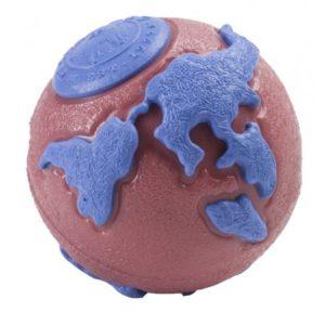 Jucărie câini Planet Dog Minge Orbee, Roz/Albastru, S