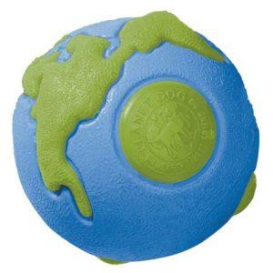 Jucarie pentru caini Planet Dog Minge Orbee, Verde/Albastru, S